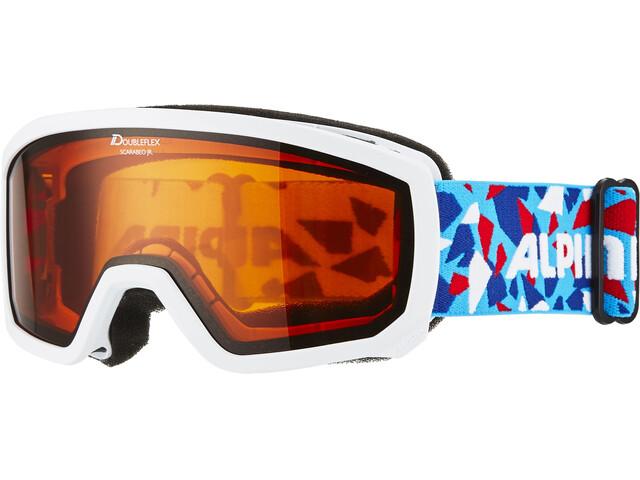 Alpina Scarabeo Doubleflex S2 goggles Kinderen wit/bont
